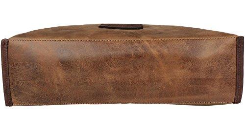 Harold's Stag Sac à main - porté épaule cuir 40 cm braun