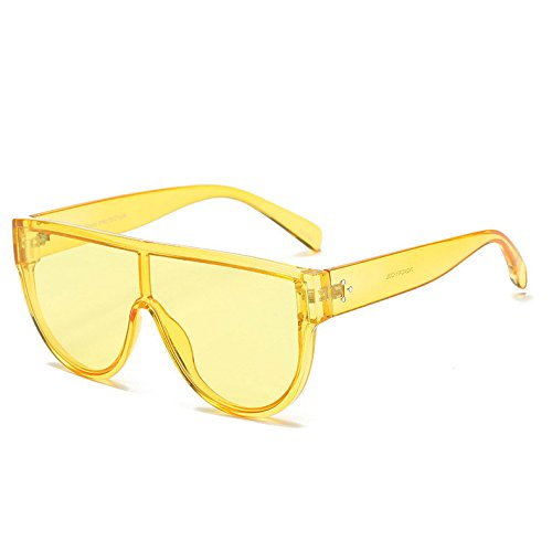 1174af0f6ac3d Fygrend - Lunettes de soleil style Street Rivets siamois Shades Red Femme  Mirror Pink Marque Lunettes