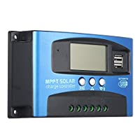40A MPPT Solar Charge Controller Dual USB LCD Display Auto Solar Cell Panel Charger Regulator