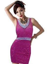 Qiyun Damen Strandkleid