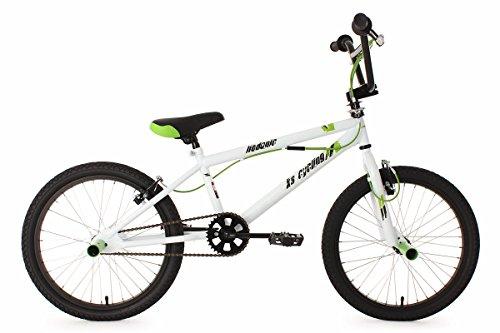 KS Cycling Jungen Fahrrad BMX Freestyle Hedonic, Weiß, 20, 593B - Bike 20 Zoll Bmx