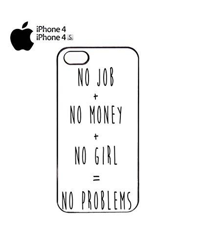 No Job No Money No Girls No Problem Novelty Funny Mobile Phone Case Cover iPhone 6 Plus + White Noir