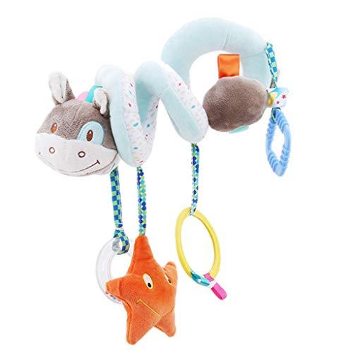 SEVENHOPE Baby Spielzeug Aktivität Spielzeug Weiches Spielzeug hängenden Spielzeug Spirale Kinderwagen Spielzeug (grün kleines Geld)
