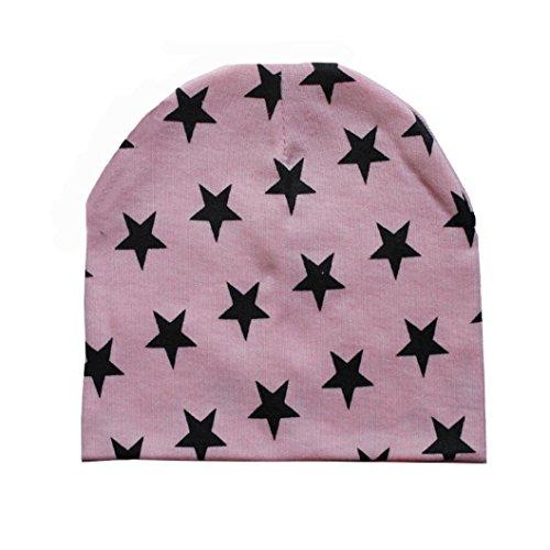 Babybekleidung Hüte & Mützen Longra Kleinkind Baby Jungen Säuglings Winter warme Häkelarbeit Sterne Strickmütze Beanie Hüte Mützen Cap (7 Monate - 3 Jahre) (Pink)