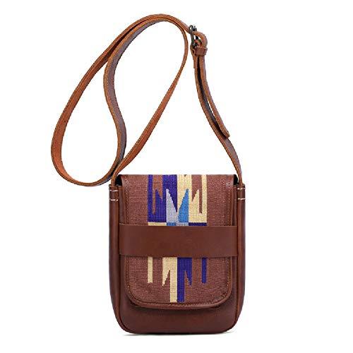 Borsa a tracolla in pelle con tracolla per viaggi di lavoro e shopping-brown
