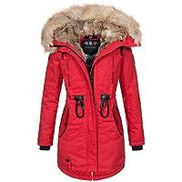 Navahoo Warme winterjas voor dames, lang kunstbont, winterjas, parka, mantel B660.