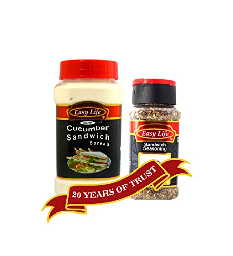 Easy Life Combo of Cucumber Sandwich Spread 315g and Sandwich Seasoning 40g