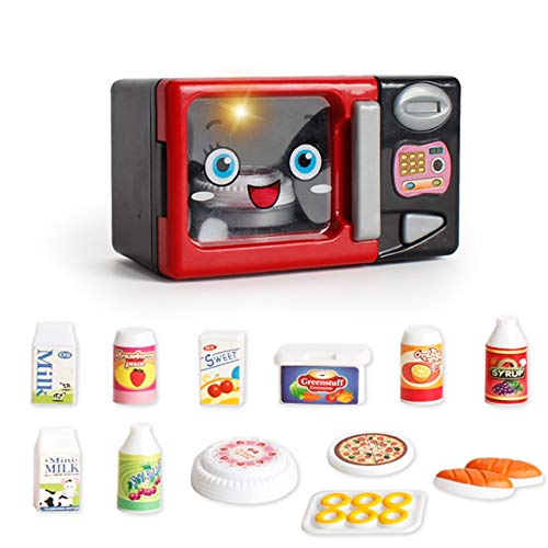 ni Küche Spielzeug Mikrowelle Maschine Spielset Herd Top And Play Brot Milch Pizza Kuchen Lebensmittel Spielzeug Mit Licht Kochutensilien Spielzeug Set Würze Spielzeug Für Mädchen ()