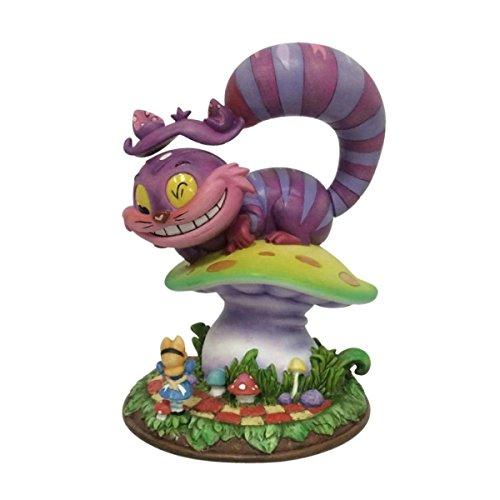 Disney Miss Mindy Presents Cheshire Cat & Alice Figurine, Resin, Multicolour, 12 x 11 x 16 cm -