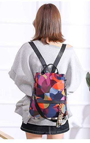 MOCA Women's Nylon Mini Small Anti-Theft Rucksack Travel Backpack (Multicolour) Image 5