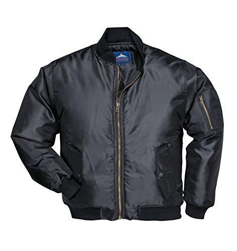 Portwest S535 - chaqueta de piloto, color Negro, talla 4XL
