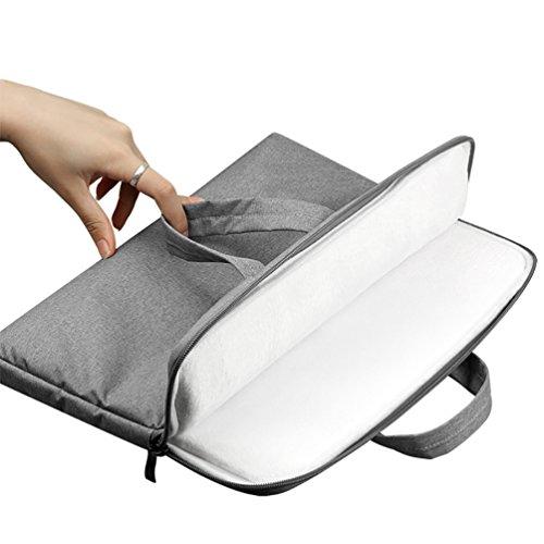 YiJee Sleeve per Laptop Computer Portatile Macbook Air Pro con Display Retina 11.6-15.6 Pollici 11.6 Inch Grigio