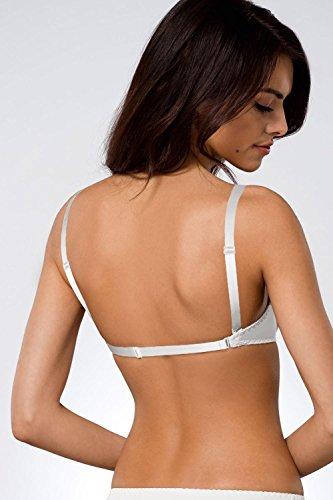 Ava 146/69 Push-Up BH Damen Unterwäsche Rückenfrei Abnehmbar Glatt Top Qualität EU Weiß