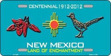 red-chili-road-runner-new-mexico-teal-novelty-metal-license-plate-lp-1528-by-smart-blonde