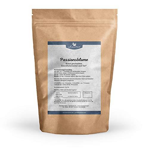 Krauterie Passionsblume in hochwertiger Qualität, frei von jeglichen Zusätzen, als Tee oder für Pferde und Hunde (Passiflora incarnata) - 500 g - Hilfe-kraut-tee