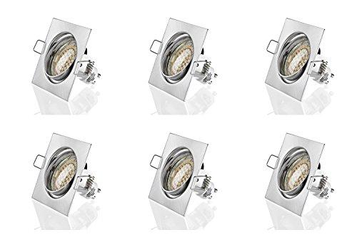 X 6 Assiettes sweet lED cadre de montage pour ® plafonnier 60 lED carré encastrable 230 v -