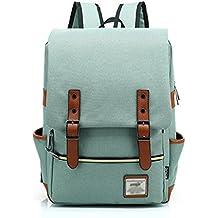 Minetom Casual Escuela Unisex Moda Vintage Mochila Backpack Rucksack Mochila Escolar para Ordenador Portátil