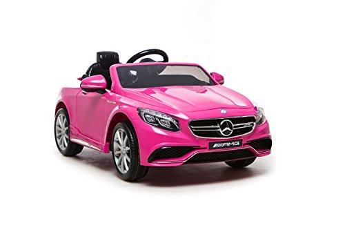 Babycar 500r - Auto Elettrica per Bambini Mercedes S 63 Full Optional con Telecomando, 12 Volt, Rosa