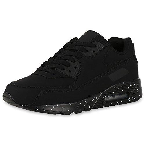 Herren Laufschuhe Runners Sportschuhe Sneakers Schuhe Schwarz Weiss Paint 44