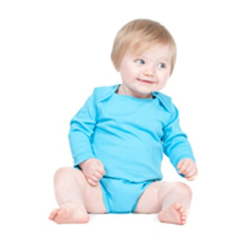 Larkwood Long Sleeve All In One Cotton Baby Wear Bodysuit Blue,Pink,White