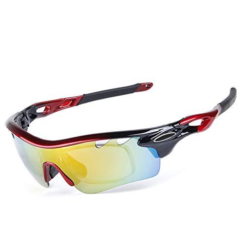 KnBoB Sonnenbrille Zum Autofahren Sportbrille In Sehstärke Fahrradbrille Antibeschlag Stil C