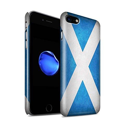 STUFF4 Glanz Snap-On Hülle / Case für Apple iPhone X/10 / Griechenland/Griechisch Muster / Flagge Kollektion Schottland/Schottische