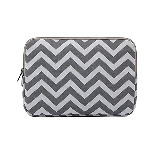 6-15 Zoll Laptoptasche Notebooktasche Laptophülle Hülse Schutzhülle Streifen Pc Laptop Schutztasche Für Ultrabook Grau 12