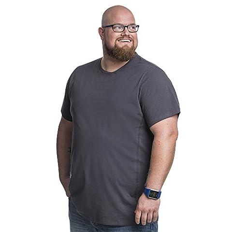 Lot de 2 T-shirts Alca Classic , Col rond , Tailles XL-B - 8XL-B Des Tshirts spécialement conçus pour les hommes avec une taille « 112 - 178 cm » de ventre en plus (5XL-B,