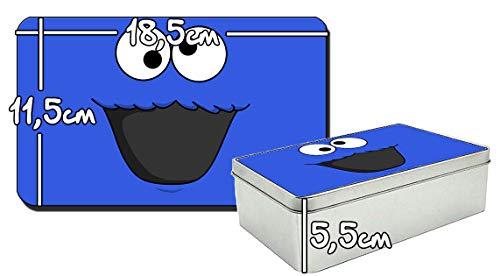 EL Monstruo De Las Galletas Barrio Sesamo Cookie Monster Sesame Street Metalldose aus Zinn Metal Tin Box
