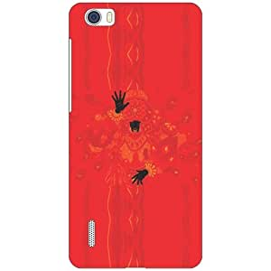 Via flowers Red Phone Cover For Huawei Honor 6