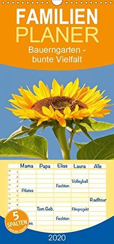 Bauerngarten - bunte Vielfalt - Familienplaner hoch (Wandkalender 2020 , 21 cm x 45 cm, hoch): Wunderschöne Detailaufnahmen eines ökologischen Gartens (Monatskalender, 14 Seiten ) (CALVENDO Natur) - Lavendel Kürbis
