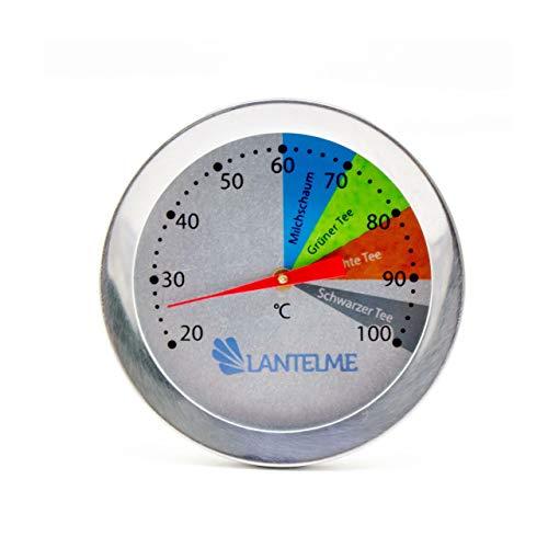 Lantelme Einkochthermometer Pasteurisier Thermometer aus Edelstahl Wasserdicht Spülmaschinengeignet Silber 5845