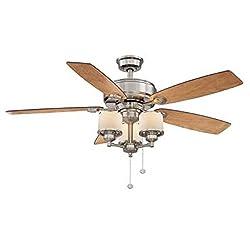 Hampton Bay Waterton Ii 52 In. Brushed Nickel Ceiling Fan