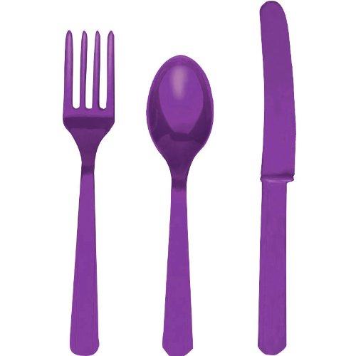 Violet Assortiment Couverts (8pc Chacune des cuillers, couteaux et fourchettes)