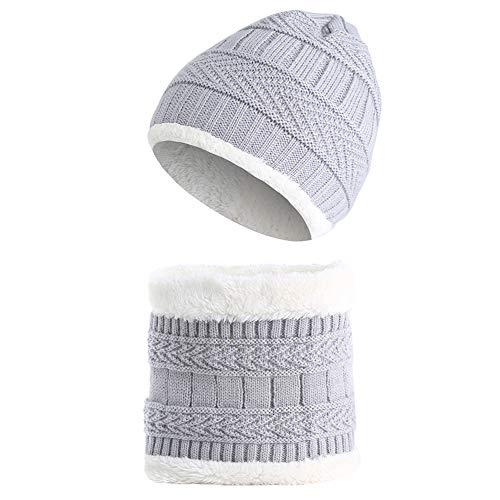 94aaed89b Amorar bebé Set de Bufanda y Gorro Invierno Caliente Beanie Sombrero de  Punto y Cuello Bufanda