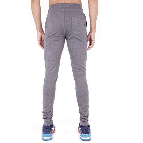 Arrested Development - Pantaloni da ginnastica da uomo, super aderenti Light Grey