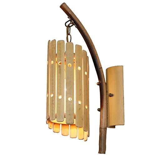 Yaione Bambú, liviano, Simple, Interior, decoración, decoración, lámpara de Pared, Aplique de...