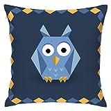 EANTE Dekorative Kissenbezüge, Origami-Eulen-Überwurf, Kissenbezüge, 18 x 18 cm, für Sofa und Zuhause, Polyester, Multi Color, Einheitsgröße