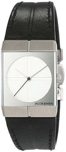 Jacob Jensen Jacob Jensen Icon Orologio – Bracciale unisex al quarzo in pelle Jacob Jensen 242