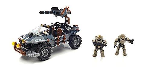 Mattel Mega Bloks DPJ92 Halo UNSC Dual Mode Warthog, BAU und Konstruktionsspielzeug (Halo-action-figuren Waffen)