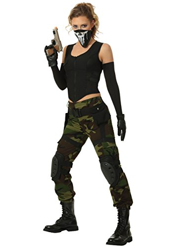 Fighting Soldier Womens Plus Size Fancy dress costume 1X