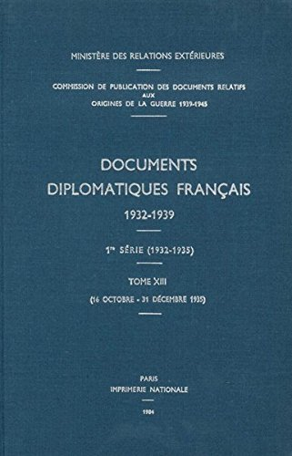 Documents Diplomatiques Francais, 1935: 16 Octobre - 31 Decembre