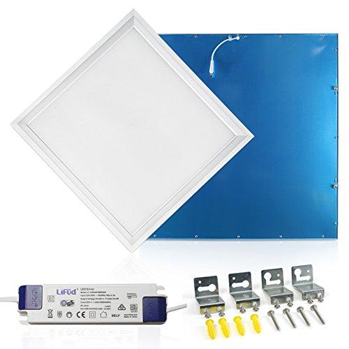LED Panel Deckenleuchte 62x62cm Warmweiss 3000K Ultraslim 40W inkl. Trafo und Befestigungsmaterial für Systemdecken wie Odenwalddecke Rasterleuchten Einlegeleuchte Büroleuchten