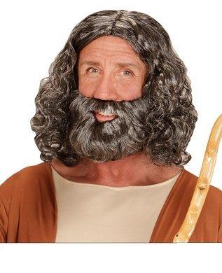 Widmann wdm04947–Kostüm für Erwachsene Perücke und Bart biblischen in Behälter, grau, Einheitsgröße