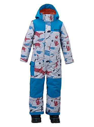 Burton Jungen Minishred Striker One Piece Snowboardoverall, Big Bad Wolf/Mountaineer, 18