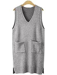 Damen Pullover Europa Und Den Vereinigten Staaten Große Größe Damen Weste ärmellose Weste Kleid