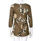 AmazingDays Damen Bluse Langarm Blumen Oberteile Elegant Zum KnöPfen Tops T-Shirt Casual Locker Pullover Frauen Sweatshirt (Mehrfarbig, S) Vergleich