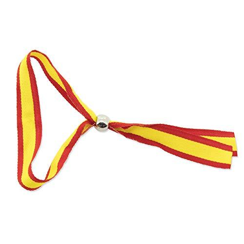 GARGOLA.ES OPERADORES DIGITALES Pack DE 25 Pulseras Ajustable con BOLITA DE Metal Bandera de España Muy Buena RELACIÓN Calidad CANTIDAD para REGALAR-34.00 x 1.50 x 0.00 cm