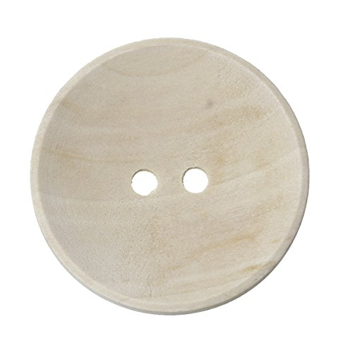 10 bottoni in legno, colore naturale, 2