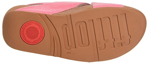 Fitflop Lulu Cross Back-Strap Sandals-Denim, Sandali Punta Aperta Donna Pink (Pink Shimmer-Denim)